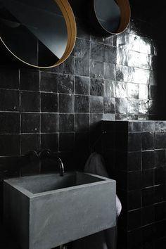 zellige 10x10 noir