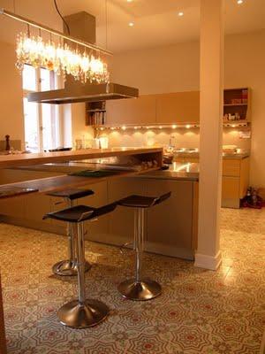 carreaux de ciment cuisines. Black Bedroom Furniture Sets. Home Design Ideas