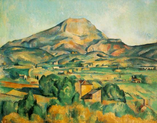 Paul Cézanne,Aix en provence- La montagne Sainte-Victoire, vers 1906