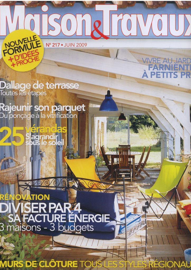 Maison et travaux couverture juin 2009 for Salon maison et travaux