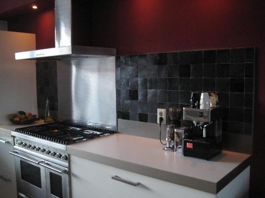 Zellige - Keuken met cement tegels ...